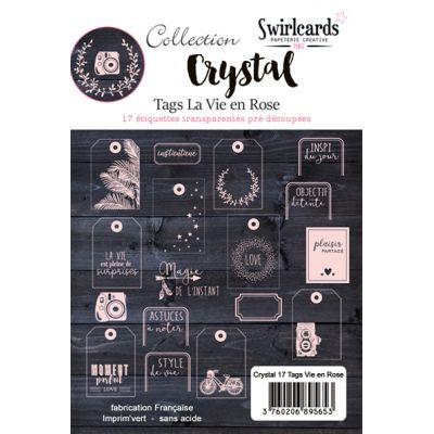 Tags Crystal Swirlcards - Vie en rose