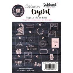 Tags Crystal Swirlcards - Vie en rose