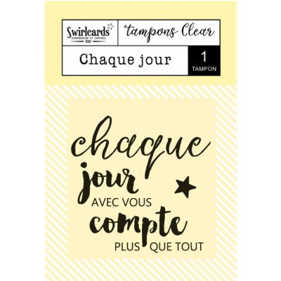 Tampon transparent Swirlcards - Chaque jour