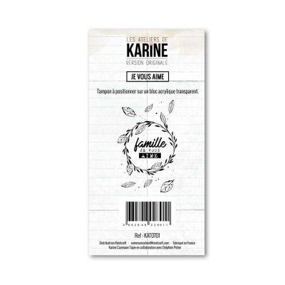 Tampons transparents Les Ateliers de Karine - Je vous aime