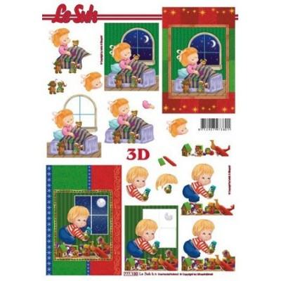 Image Carterie 3D - Garçon et fillette avec leurs jouets