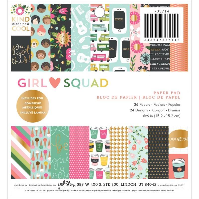 Mini Pack 15x15 - Pebbles - Girl Squad