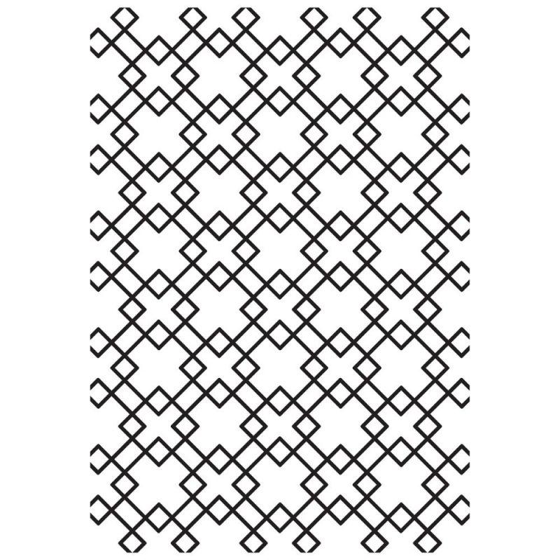 Pochoir de gaufrage KaiserCraft - Diamond Tiles