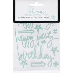 Stickers Heidi Swapp Buzzwords - Birthday - Blue