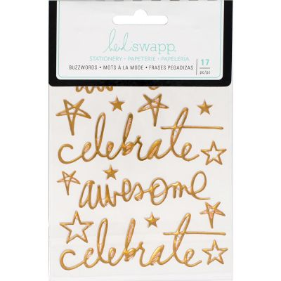 Stickers Heidi Swapp Buzzwords - Celebrate - Gold