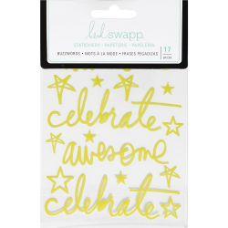 Stickers Heidi Swapp Buzzwords - Celebrate - Green