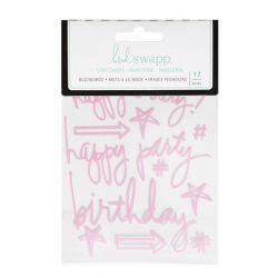 Stickers Heidi Swapp Buzzwords - Birthday - Pink