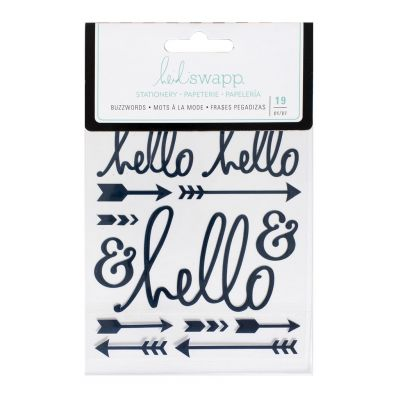 Stickers Heidi Swapp Buzzwords - Hello - Navy