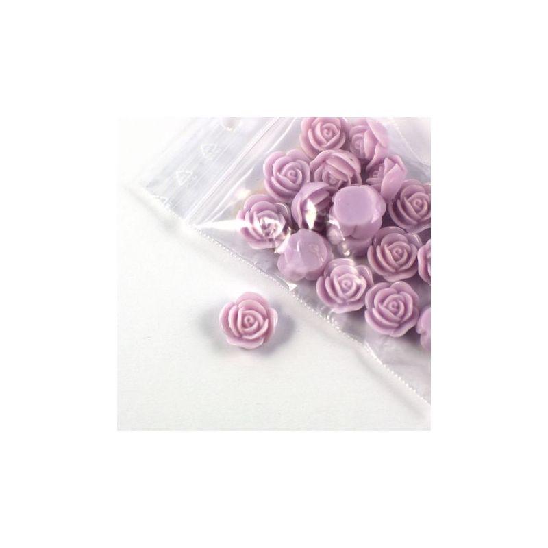 Rose en résine 15mm (lot de 20) - Violet parme clair