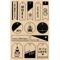 Tampon bois Florilèges - Modern Christmas - Mes petites étiquettes