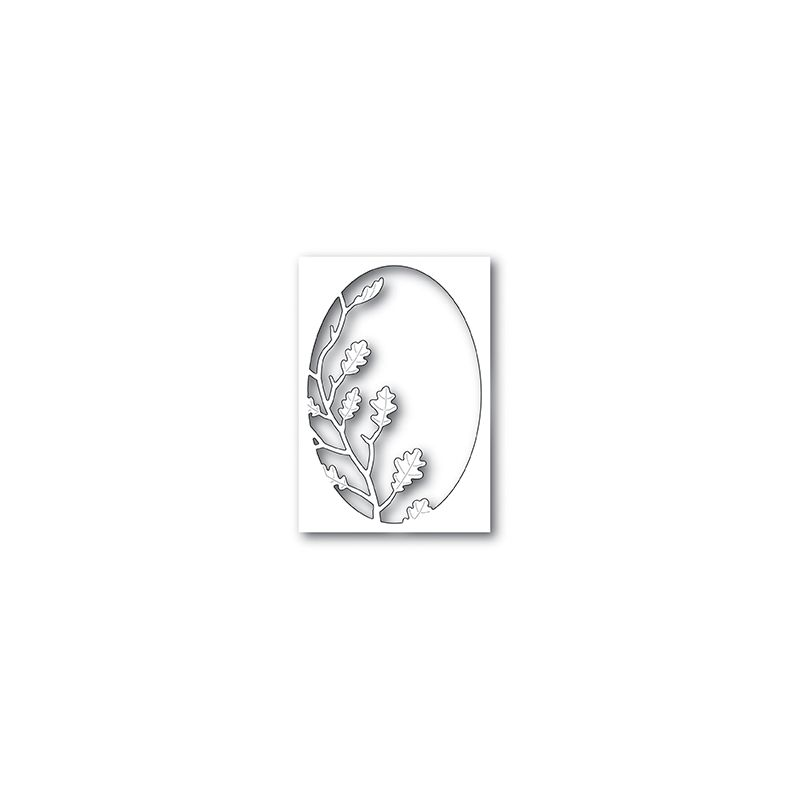 Die Poppystamps - Oak Leaf Oval Collage
