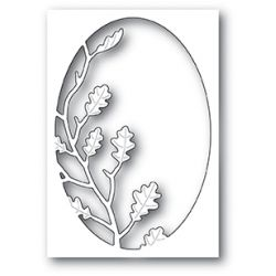 Die Poppystamps - Oak Leaf Oval Collage