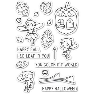 Tampons transparents Poppystamps - Autumn Fairies