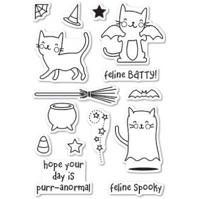 Tampons transparents Poppystamps - Feline Spooky