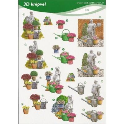 Image Carterie 3D - Statues, arrosoirs & pots de fleurs