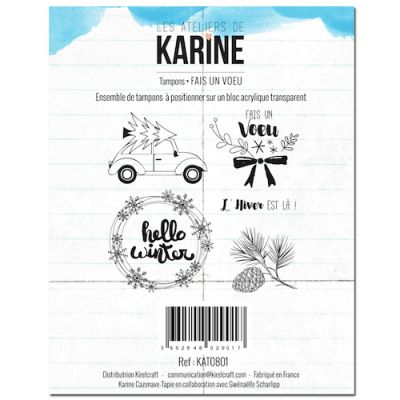 Tampons transparents Les Ateliers de Karine - Fais un voeu