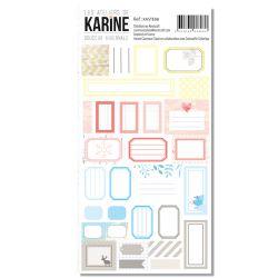 Stickers étiquettes Douceur Hivernale