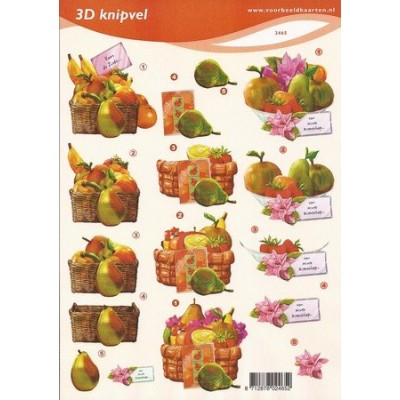 Image Carterie 3D - Panier de fruits