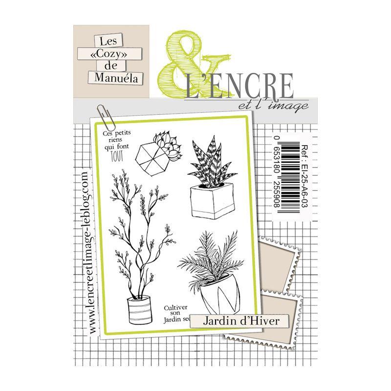Tampons L'Encre & l'Image - Les Cozy de Manuéla - Jardin d'hiver