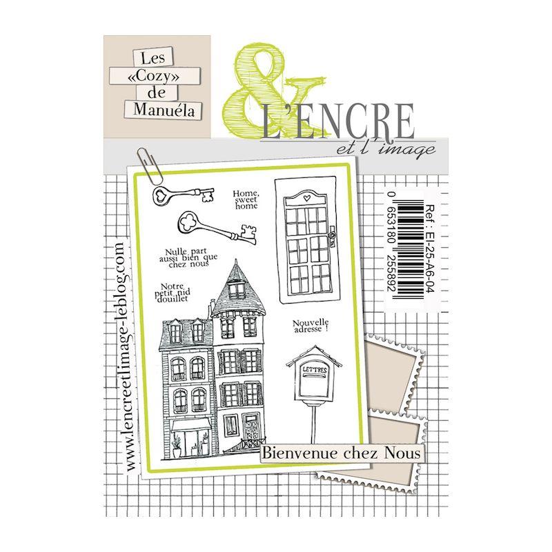 Tampons L'Encre & l'Image - Les Cozy de Manuéla - Bienvenue chez nous