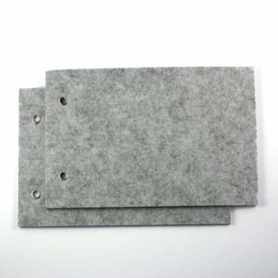 Couvertures en feutrine - Gris clair (x2)