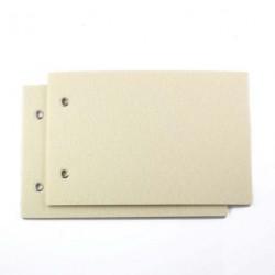 Couvertures en feutrine - Crème (x2)