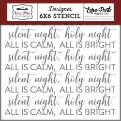 Pochoir Echo Park - Silent Night