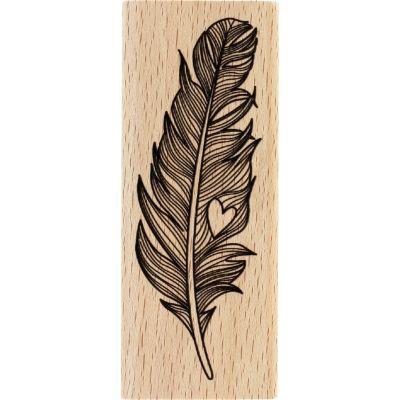 Tampon bois Florilèges - Capsules 2017 - Douce plume