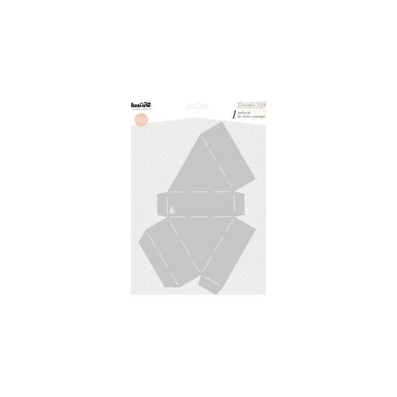 Gabarit de pliage - Boîte triangle