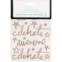 Stickers Heidi Swapp Buzzwords - Celebrate - Rose Gold