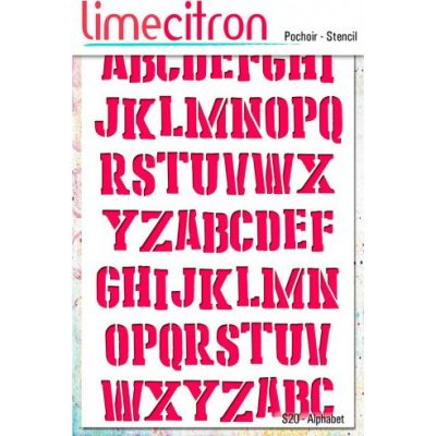 Pochoir Lime Citron 10x15 cm - Alphabet