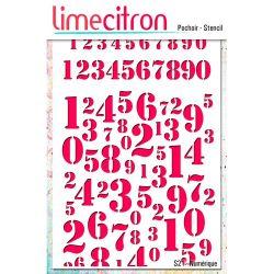 Pochoir Lime Citron 10x15 cm - Numérique