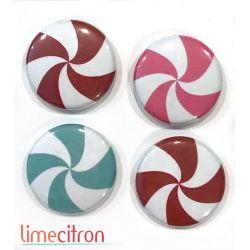 """Badges Lime Citron 1"""" - Bonbons"""