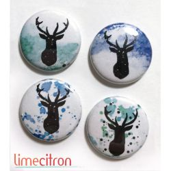 "Badges Lime Citron 1"" - Rennes"