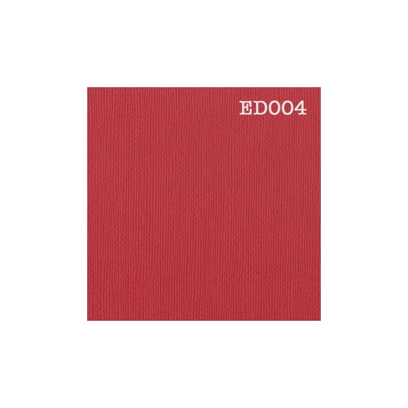 Cardstock texturé canvas - Coloris rouge fraise