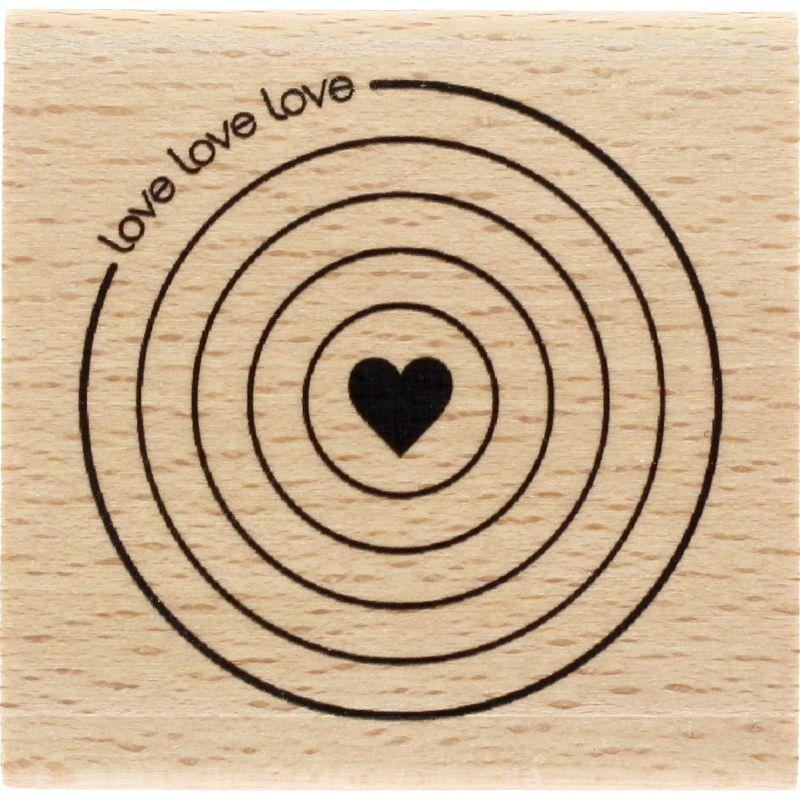Tampon bois Florilèges - Graphic Love - Cible amoureuse