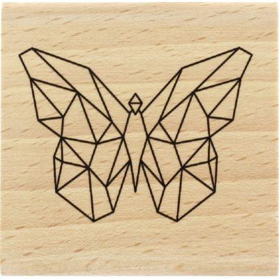 Tampon bois Florilèges - Graphic Love - Papillon origami