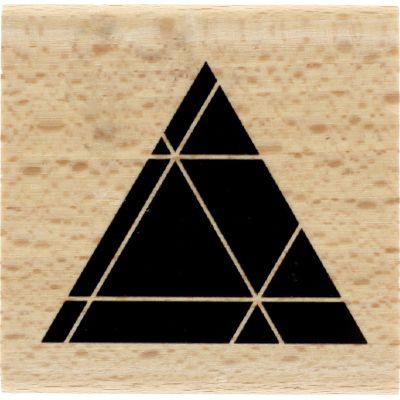 Tampon bois Florilèges - Graphic Love - Triangle noir