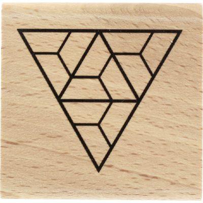 Tampon bois Florilèges - Graphic Love - Triangle labyrinthe