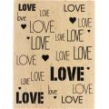 Tampon bois Florilèges - Graphic Love - Fond love