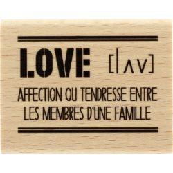 Tampon bois Florilèges - Graphic Love - Love définition