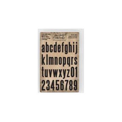 Tampons Cling Tim Holtz - Alphabet minuscule et chiffres