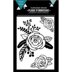 Plaques d'embossage - Trois roses