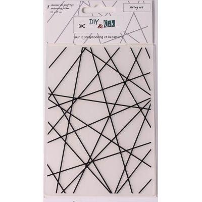 Pochoir de gaufrage DIY&Cie - String Art