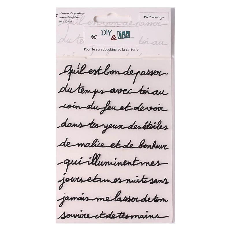 Pochoir De Gaufrage Diycie Petit Message Cartoscrap