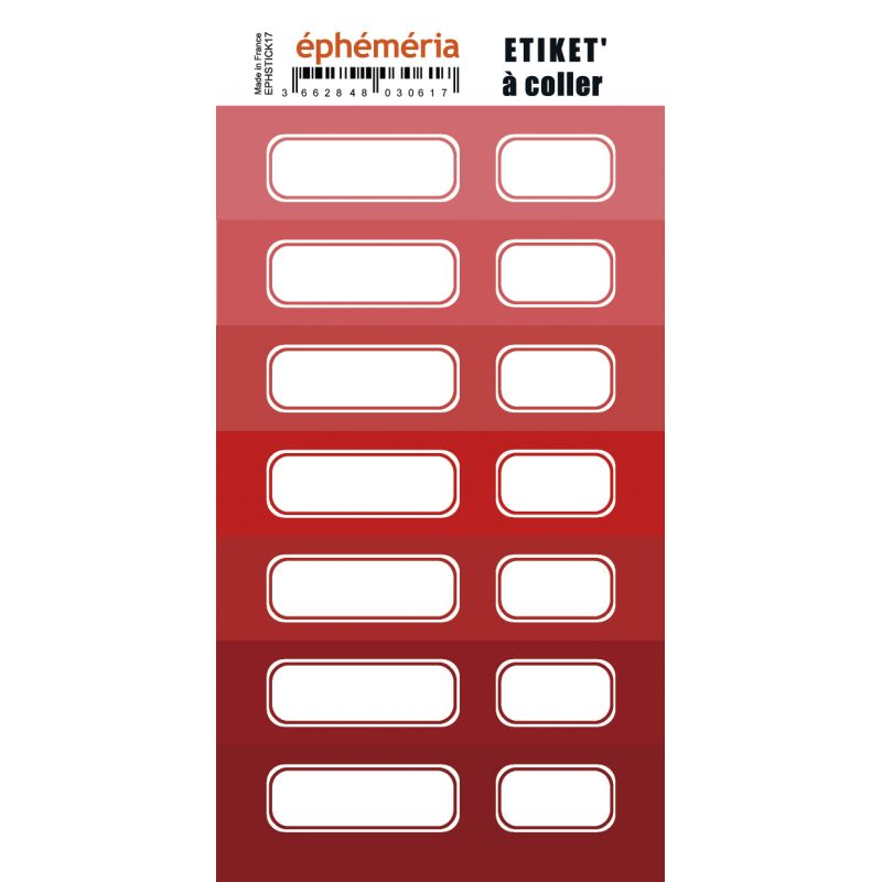 Stickers Ephemeria - 7 nuances de rouge
