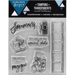 Tampons transparents Florilèges - Capsules 2018 - Argentique magique