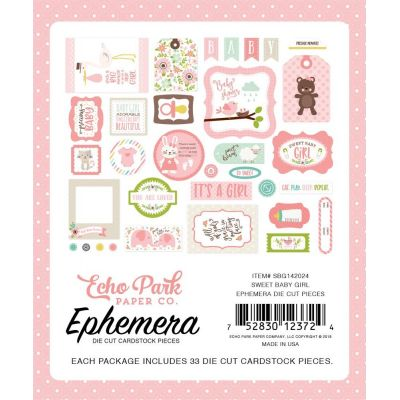 Die-cuts Ephemera Sweet Baby Girl