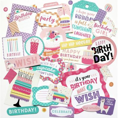 Die-cuts Ephemera Happy Birthday Girl