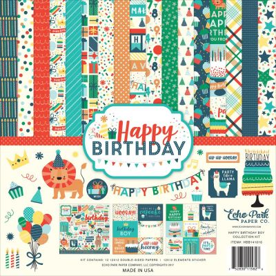 Pack 30x30 - Echo Park - Happy Birthday Boy